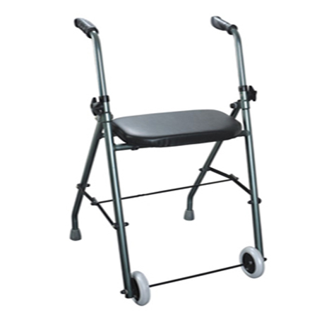 folding aluminum walker with seat and wheels Dubai