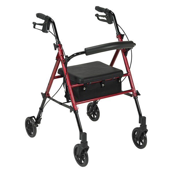 Height-adjustable rollator walker with casters HI-LOW, AD-152